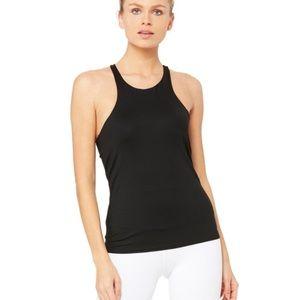 ALO Yoga gala bra tank size large black